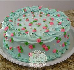 Cake Decorating Designs, Cake Decorating Techniques, Cake Designs, Cookie Decorating, Cupcakes, Cupcake Cakes, Food Cakes, Spring Cake, Amazing Cakes