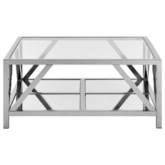 Coffee Table with tempered glass top/SIDE TABLES/FURNITURE|Bouclair.com