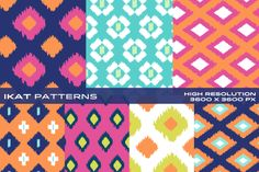 Ikat Patterns - Vol2 by LuOtero on Creative Market