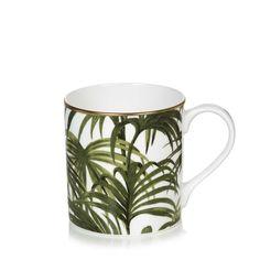 PALMERAL Mug - White / Green