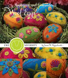 Aren't they lovely? With this pattern you can make seven different eggs.