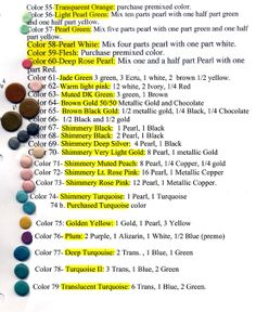polymer clay color recipes (#3)
