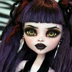 "New OOAK 17"" BJD Monster High Elissabat Custom Repaint by Rogue Lively 