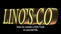 #fishtanks fe, learn how to create a #fishtank