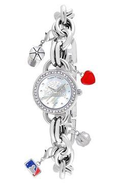 Women's Game Time Watches 'MLB - Colorado Rockies' Charm Bracelet Watch