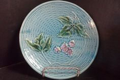 6+1/2+Zell+Germany+Majolica+Grape+Plate+by+ShabbyCathys+on+Etsy