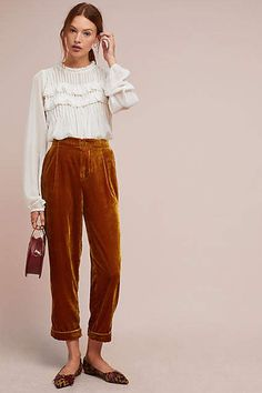 Cuffed Velvet Trousers Shop the Cuffed Velvet Trousers at Anthropologie today. R… - DIY Clothes Tutorial Ideen Girls Ripped Jeans, Hipster Jeans, Black Hipster, Boho Outfits, Fashion Outfits, Womens Fashion, Fashion Boots, Winter Outfits, Fashion Trends