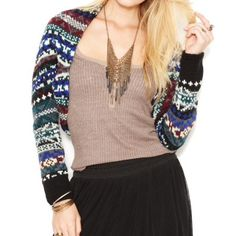 NWT Free People Carnival shrug sweater Brand new with tags, size XS. Multi color with black lace lining. Hand wash only. No trades please. Free People Sweaters