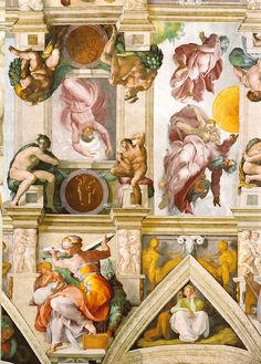 Sixtinische Kapelle, Michelangelo, Deckenfresko (ceiling fresco) by HEN-Magonza, via Flickr