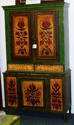 Early Pennsylvania Dutch Blind Cupboard.