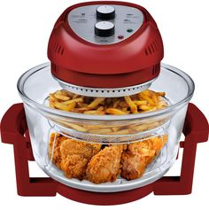 Big Boss 1300-Watt OilLess Fryer, 16-Quart, Comes in 5 Colors - Red, White, Silver, Blue And Black. The Big Boss 16 Qt. 1300 Watt High Speed, Low Energy OilLess Fryer is traditional cooking reinvented. | eBay!