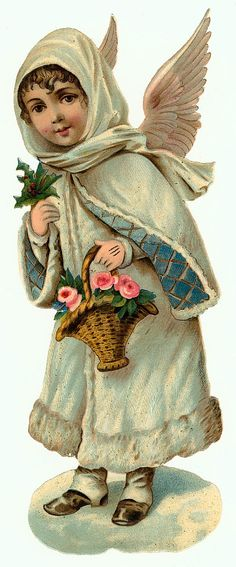 §§§ : victorian die-cut scrap : printables : http://wordplay.hubpages.com/hub/vintage-Christmas-angels-clip-art