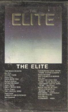 The Elite Compliation Cassette Tape 1981 K-tel Original Bee Gees Abba Diana Ross $6