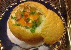 Zsemlébe töltött tojás   Mária Kiss receptje - Cookpad receptek Bacon, Pork Belly