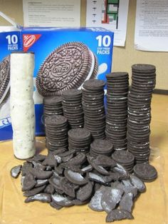 Tower of oreo centers!?! oh, this is beyond words....