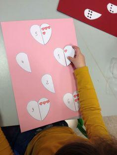 Thema 'Valentijn': teloefening 'hartjes'
