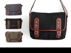 Buckled Messenger Bag