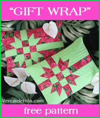 """""""Gift Wrap"""" pillows by Venus de Hilo, via Flickr"""