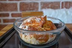Chutný, jednoduchý......a křupavý:) V míse smíchat 3 hrnky hladké mouky, 2 lžičky soli, 2 lžičky kmínu, 2 lžičky sušeného droždí, 1 a pů... French Toast, Pudding, Bread, Chicken, Breakfast, Desserts, Food, Breakfast Cafe, Tailgate Desserts