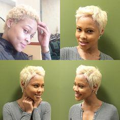 Salon Christol @salonchristol Instagram photos | Websta Girls Natural Hairstyles, Black Girls Hairstyles, 4b Hairstyles, Short Sassy Hair, Short Hair Cuts, Short Pixie, Love Hair, My Hair, Undercut