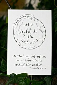 Isaiah - Hand-Lettered Missions Scripture Print - Bella Scriptura Collection from Paperglaze Calligraphy Scripture Art, Bible Art, Bible Quotes, Bible Verses, Calligraphy Quotes Scriptures, Scripture About Children, Calligraphy Quotes Doodles, Scripture Lettering, La Sainte Bible