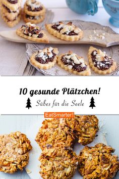 Gesunde Plätzchen Cookies can not be missing at Christmas – but they do not have to be a sin! Our 10 healthy cookies taste at least as good as the classics! Perfect for the Christmas bakery Oats Recipes, Smoothie Recipes, Smoothie Bowl, Cookie Recipes, Christmas Party Food, Christmas Baking, Christmas Recipes, Nutella Gifts, How To Cook Eggs