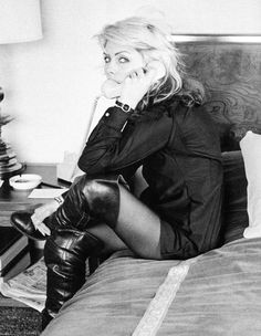 "Debbie Harry ""Hanging on the telephone"" photo (c) Chris Stein"