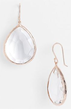Ippolita 'Rock Candy' Rosé Large Teardrop Earrings available at #Nordstrom #Nordstromweddings