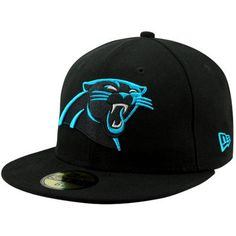 New Era Carolina Panthers Solid 59FIFTY Fitted Hat - Black