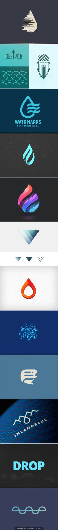 Beautiful Water Inspired Logos. Would be cool if we could incorporate the direction from this. i.e. the logo alone should identify us