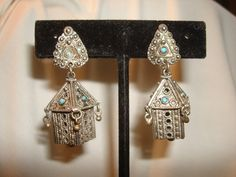 Sterling Silver Cannetille Art EARRINGS  by PastPossessionsOnly