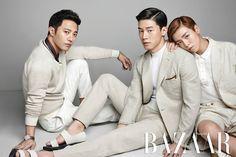 Kim Moo Yeol, Jin Goo and Lee Hyun Woo - Harper's Bazaar Magazine June Issue '15
