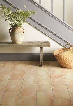 Terracotta is one of the hottest interior trends for 2017, says tile manufacturer Original Style. 'The natural stone of the past has just started to make a huge comeback, so if you want to stay ahead of the curve, it would be wise to invest in new flooring or spruce up those old tiles. Shapes play an important role as well, as geometrics are expected to be very on-trend in the foreseeable future too.'  Earthworks, Handmade Terracotta, visit Original Style for pricing