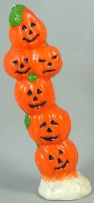 "Vintage Halloween Gurley Candle ~ 10"" tall Stack of Pumpkins"