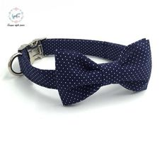 Type: Dogs Collar Type: Basic Collars Material: 100% Cotton Feature: Personalized Season: All Seasons Pattern: Dot color: yellow and blue size: xs, s, m, l ,xl feature: adjustable cleaning: machine wa