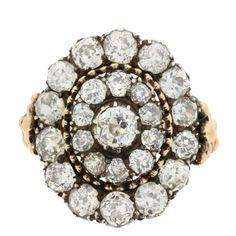 Early Victorian 3.00 Carat Diamond Cluster Ring, circa 1840-1845 | 1stdibs.com