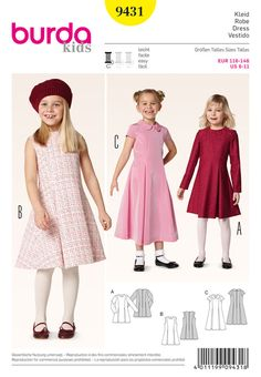smart and dressy pieces in two lengths, with two box pleats each in the front and the back, adding swing. three variants for different occasions, like for an outdoor festival in summer or an indoor children's party