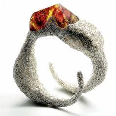 Amber and steel. This is wonderful piece of art by Pawel Kaczyński