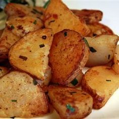 "Steve's Famous Garlic Home Fries | ""This was an excellent recipe! My very picky wife who only likes the best French fries even liked these! Next time, I will cut up the potato slices a bit more, so I can get them crispier. Bravo!"" -Joe and Sharon"