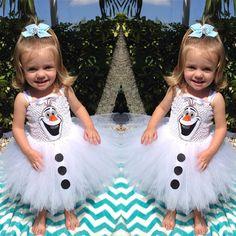 Frozen Snow Olaf Costume White Girls Gwon Kids Formal Sling Tutu Dress Skirt Hot   eBay