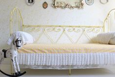 French Antique Iron Bed Antique Iron Beds, Shabby Chic Furniture, French Antiques, Storage, Home Decor, Purse Storage, Decoration Home, Room Decor, Larger