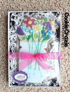 CookieCrazie: Mason Jar of Flowers Cookie