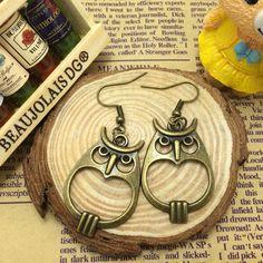 Free Shipping Antique Brass Harry Potter Owl Pendant Earrings   eBay