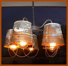 42 Superb Diy Bucket Light For Your Camping Living is part of Room Decor DIY Lights - Tenting is an effective technique to observe catastrophe preparedness Hopefully it will possibly assist you to get… Primitive Lighting, Farmhouse Lighting, Rustic Lighting, Industrial Lighting, Kitchen Lighting, Home Lighting, Farmhouse Decor, Unique Lighting, Vintage Farmhouse
