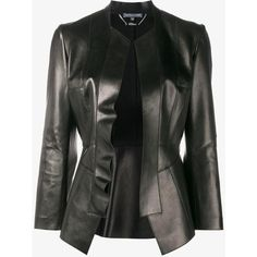 Alexander Mcqueen Alexander Mcqueen Leather Peplum Jacket ($4,210) ❤ liked on Polyvore featuring outerwear, jackets, long sleeve jacket, 100 leather jacket, long sleeve peplum jacket, peplum jacket and genuine leather jackets