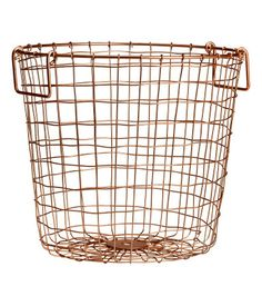 Check this out! Basket in metal wire with two handles at top. Height 9 3/4 in., diameter 11 in. - Visit hm.com to see more.