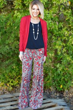 The ZigZag Stripe - Red Crush Palazzos, $30.00 (http://www.zigzagstripe.net/red-crush-palazzos/) Use coupon code PinZZS for 20% off your order!