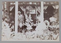 Mozaffar al-Din Shah Enthroned, One of 274 Vintage Photographs Artist: Antoin Sevruguin Medium: Albumen silver photograph Dates: late 19th-early 20th century Dynasty: Qajar