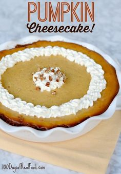 I've never been a fan of pumpkin pie, but I do LOVE pumpkin cheesecake. I think this is such a great update to the dessert we've all seen year after year.