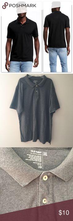 "Old Navy men's black polo shirt. Size XXL Old Navy men's black polo shirt. Size XXL cotton. 31"" long Old Navy Shirts Polos"